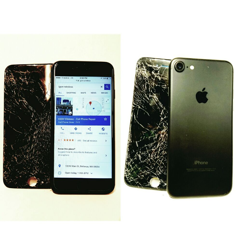 Apple iPhone 7 Cracked Screen repairs. Full service iPhone