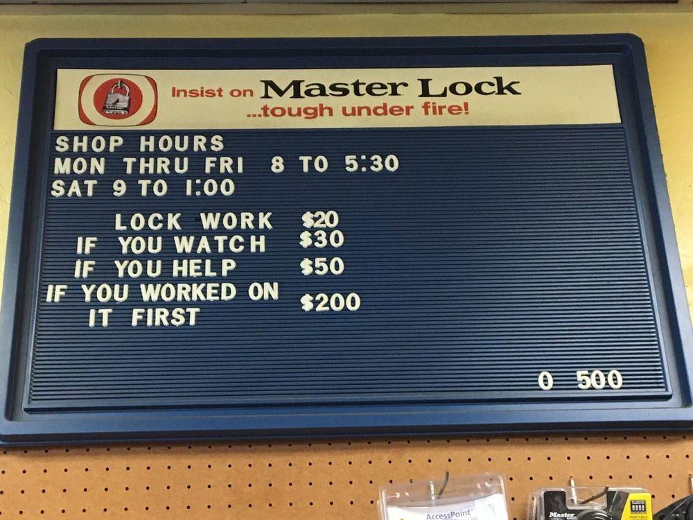 Baker's Lock & Key Service: 2951 Union Ave, San Jose, CA