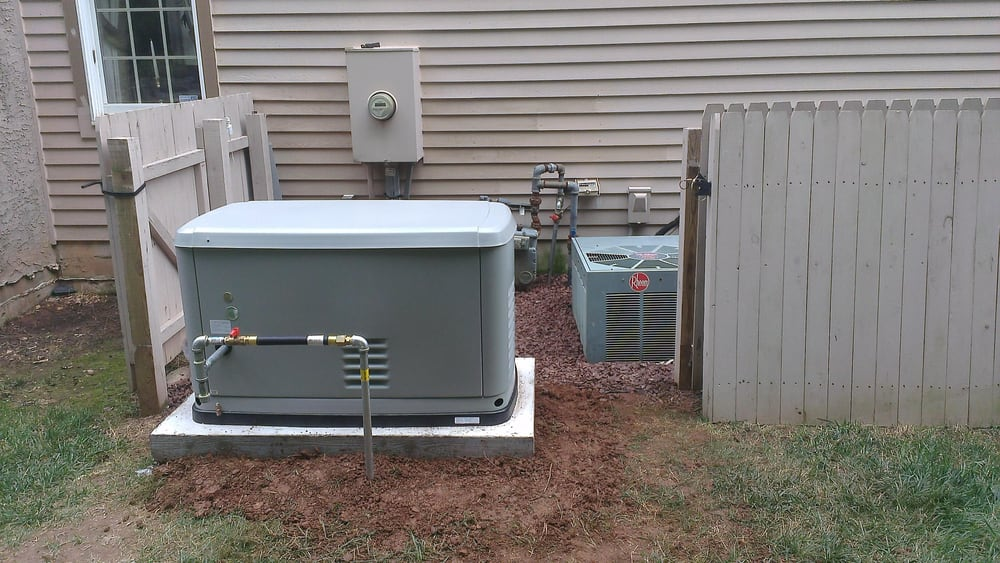 Photo of Reliance Star Plumbing and Heating - Philadelphia PA United States. Running & Running a gas line to whole house generator on the side of the house ...