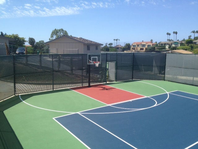 Combination Tennis And Basketball Game Court Yelp