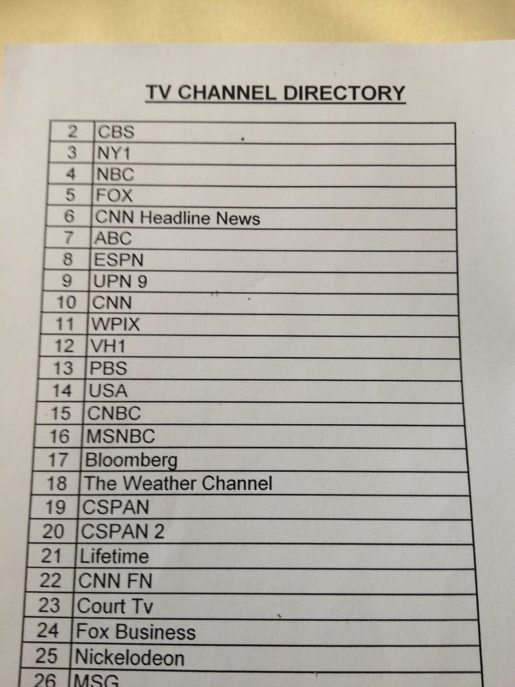 TV channels offered at Mt  Sinai  TV is overpriced at $10