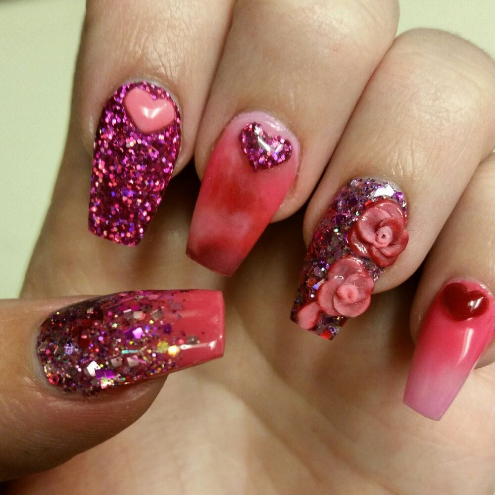 Got My Valentines Day Nails Done By Natalie She Is The Best Nail