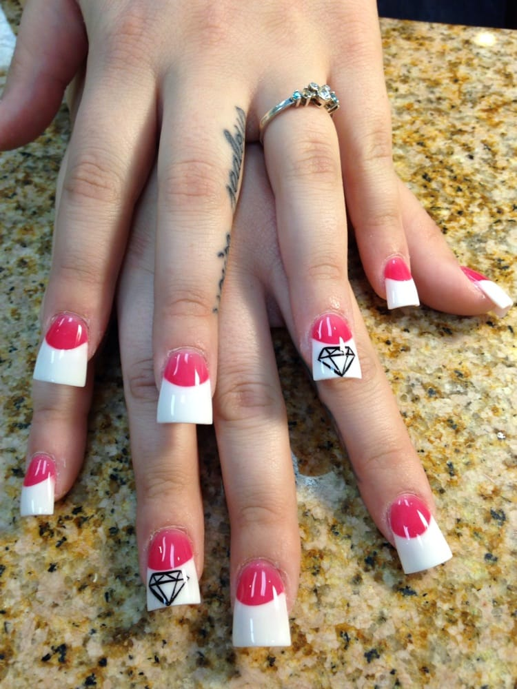 Photo of 5 Point Nails - Redlands, CA, United States. Duck feet nails - Duck Feet Nails And Diamond Design For Fun - Yelp