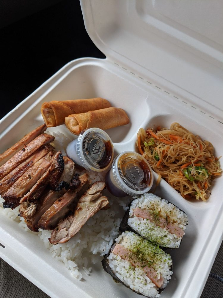 Food from Miget's Island Grill