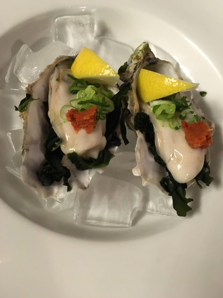 Fresh oysters limited discount each soooo for Aki japanese cuisine