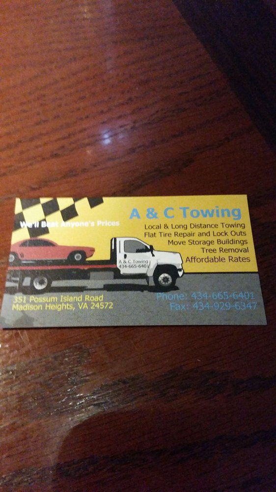 Towing business in Madison Heights, VA