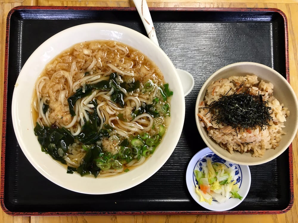 ichimiann special combo 975  hot tanuki udon  takikomi