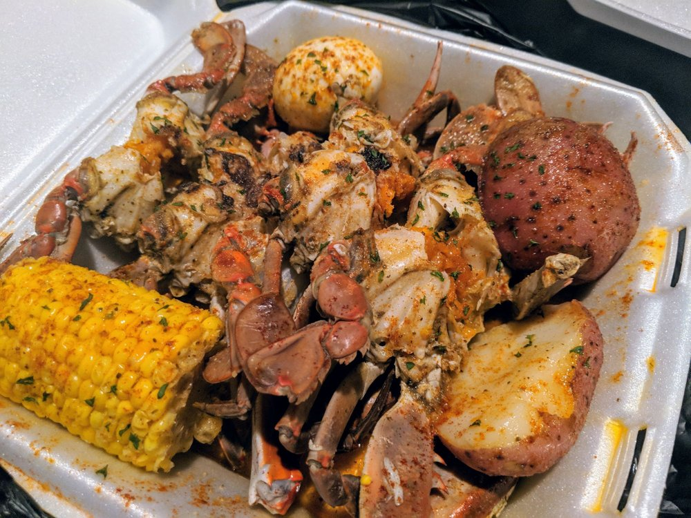 Food from Mr. Seafood