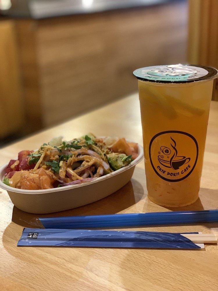 Food from Okie Pokii Cafe