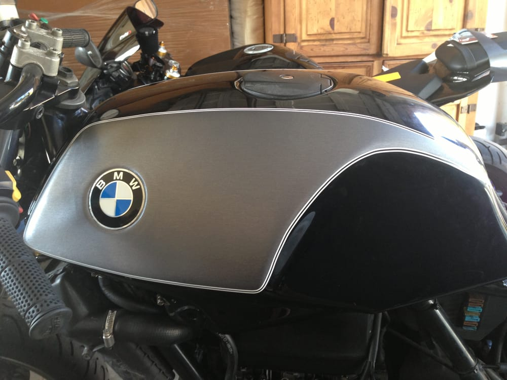 Bmw Motorcycle Partial Wrap To Cover An Awful Previously