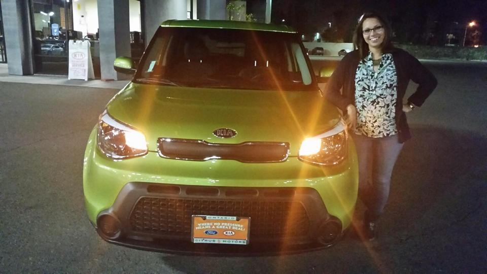 So happy with my new 2014 kia soul thank you don yelp for Citrus motors ontario ca