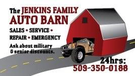 The Jenkins Family Auto Barn: 4465 N Grape Dr, Moses Lake, WA