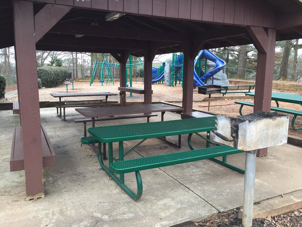 Picnic Pavilion With Tables Power Outlets And Lights You Can Turn - Picnic table atlanta