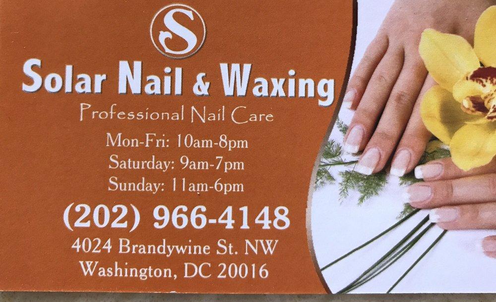 Solar Nail & Waxing: 4024 Brandywine St NW, Washington, DC, DC