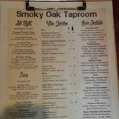 Smoky Oak James Island Menu
