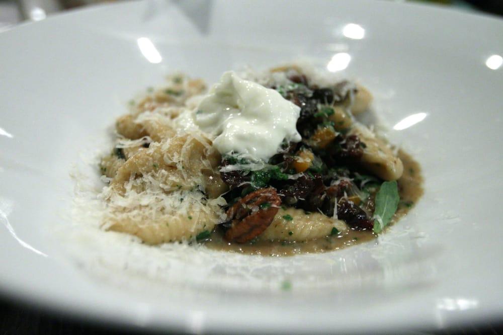 Cavatelli Pasta, Burrata, Wild Mushrooms, Dried Cherries