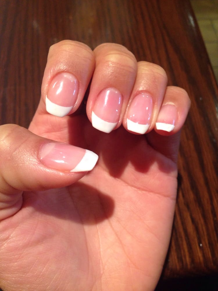 Gel French manicure with coffin shape with Anh! - Yelp