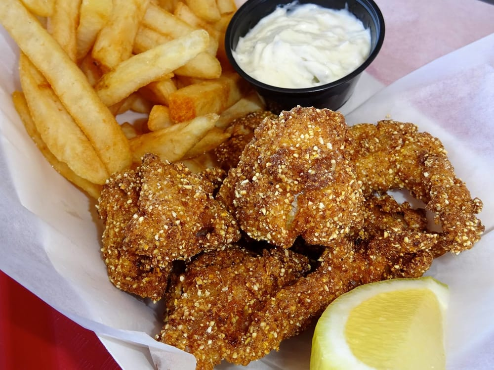 Catfish nuggets and fries at the friday night fish fry yelp for Friday night fish fry near me