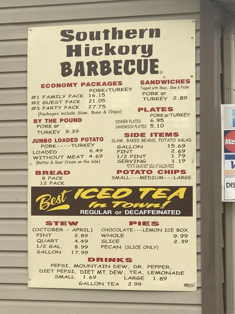 Southern Hickory Barbecue: 212 Broadway Dr SW, Cullman, AL