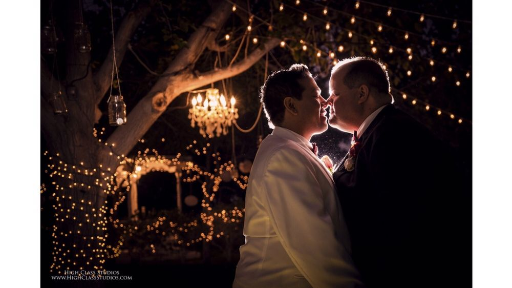 Twinkling lights and a tree chandelier made this perfect! - Yelp