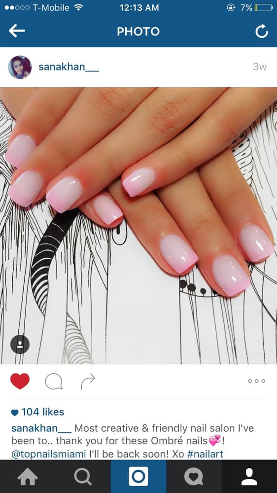 Best ombre nails at top nails miami! - Yelp