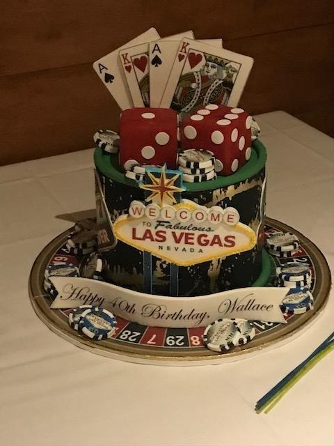 My Hubbys Las Vegas Themed 40th Birthday Cake Thanks Sasha And