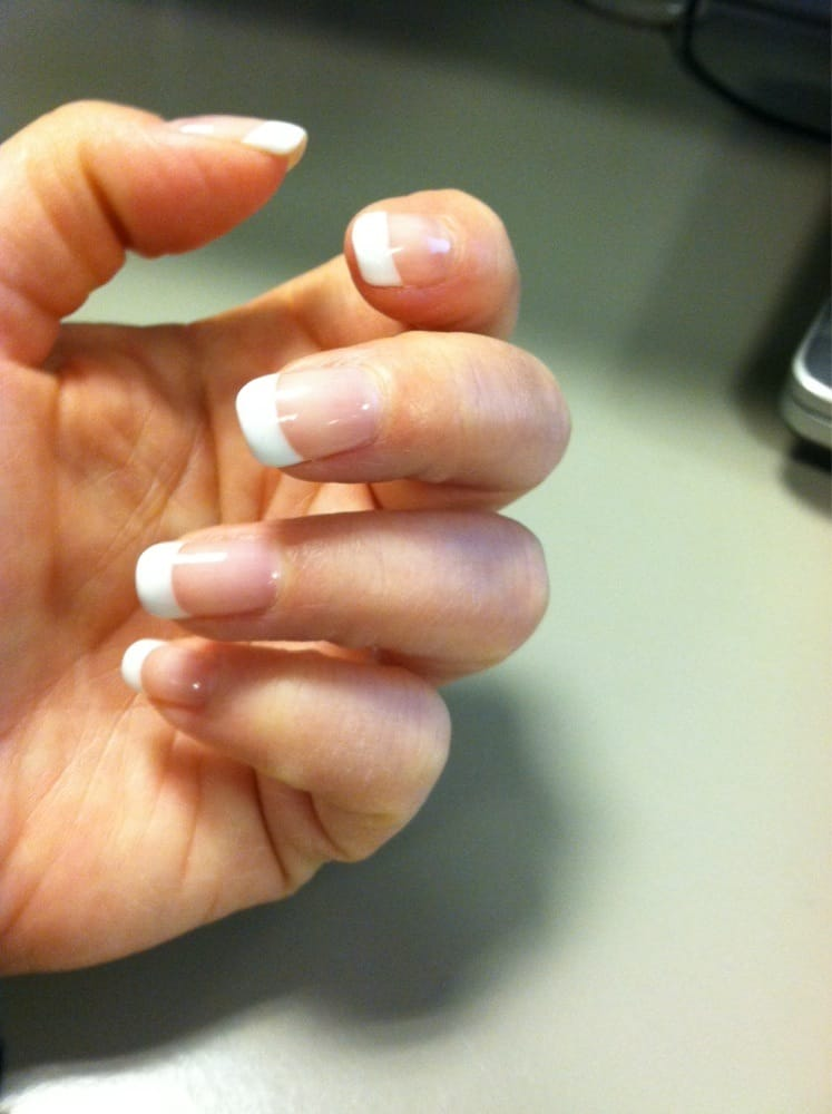 My gel French manicure. Tiffany made my natural nails look flawless ...