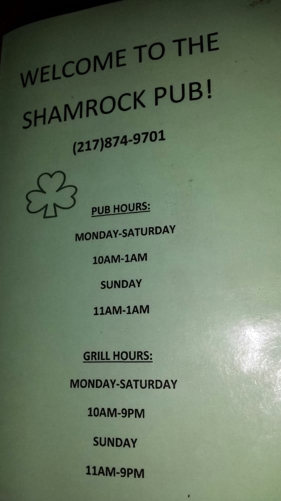 Shamrock Pub: 155 S Water St, Dalton City, IL