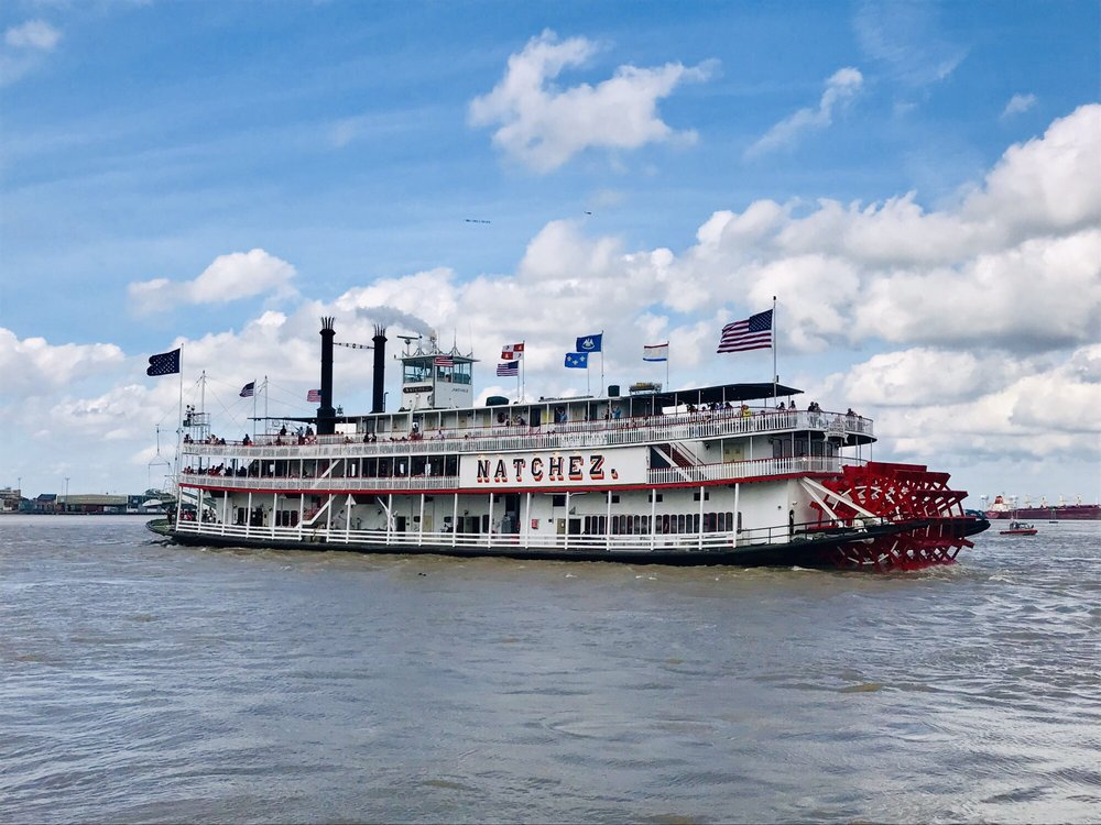 Photo of Steamboat Natchez - New Orleans, LA, United States. Steamboat Natchez on the mighty Mississippi River on day 1 of the FQ Fest 2019 :)