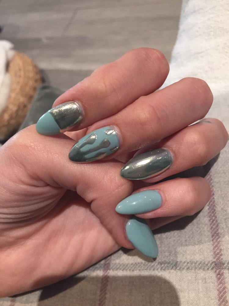 Chrome Drip Nail Design Yelp