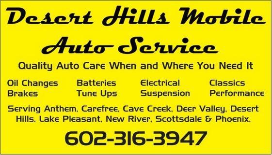 Desert Hills Mobile Auto Service: Phoenix, AZ