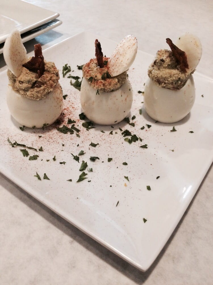these are the deviled eggs and they tasted really delish