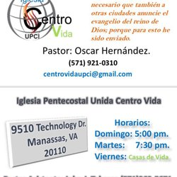 Iglesia Centro Vida Churches 9510 Technology Dr Manassas Va
