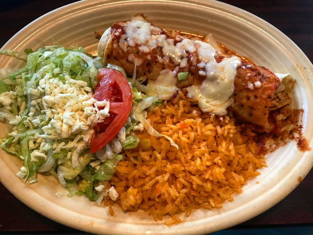 Food from El Patron Mexican Grill