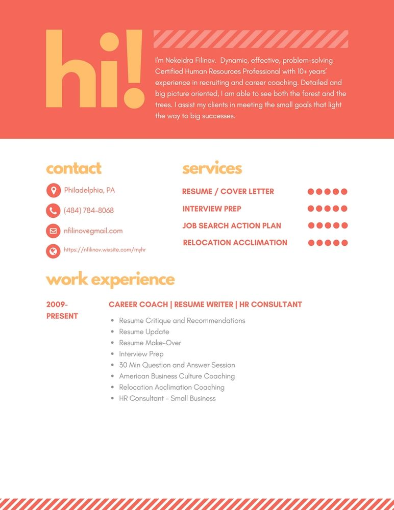 Nekeidra Filinov Certified Career Coach Resume Writer Career