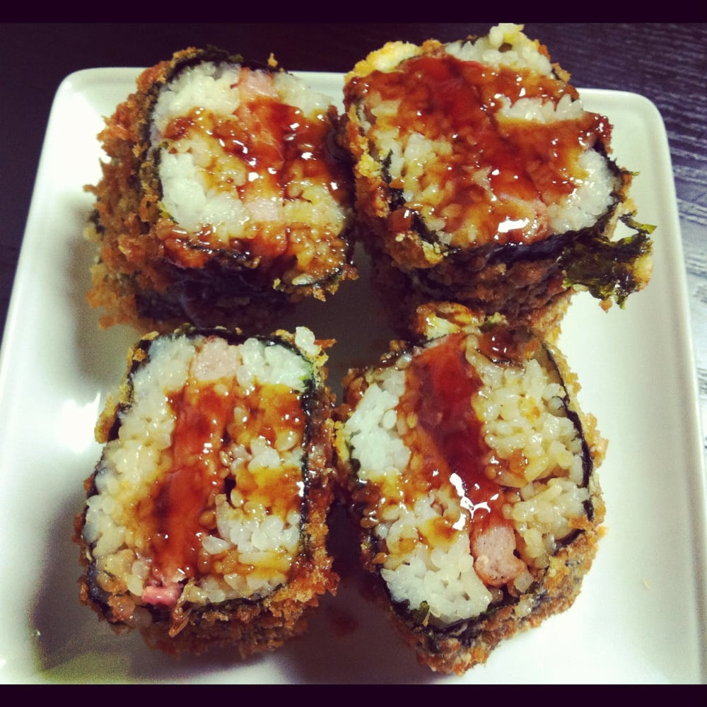 fried musubi Panko spam