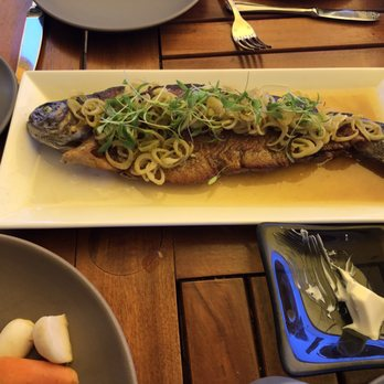 photo of madera menlo park ca united states trout so delicious
