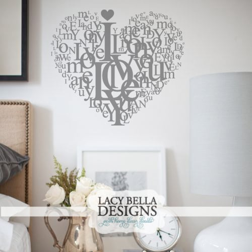 I Love You creative vinyl wall art word collage Yelp