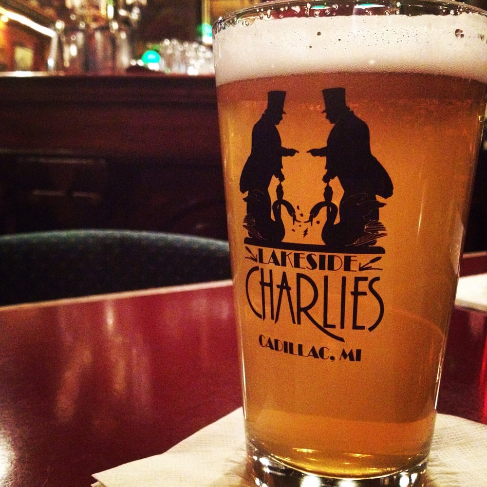 A cool drink at Lakeside Charlies. - Yelp