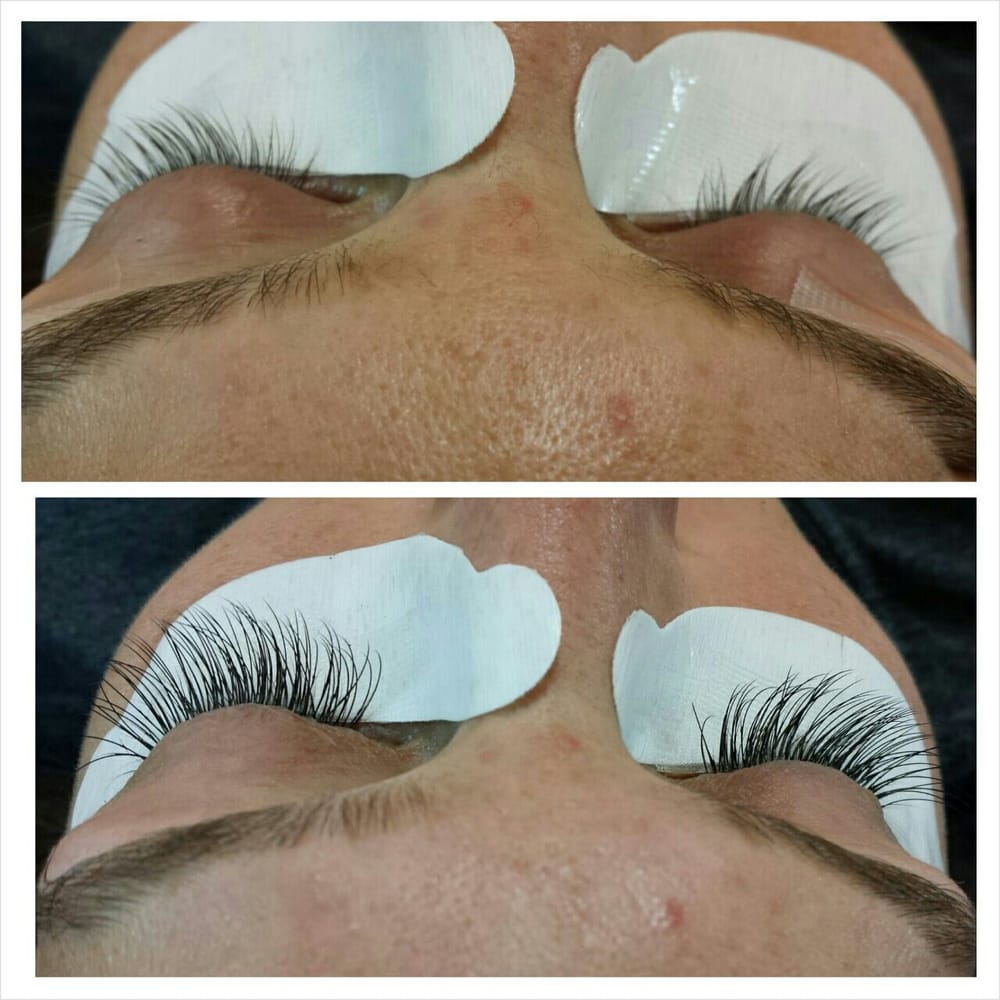 Before And After Semi Permanent Mink Eyelash Extension