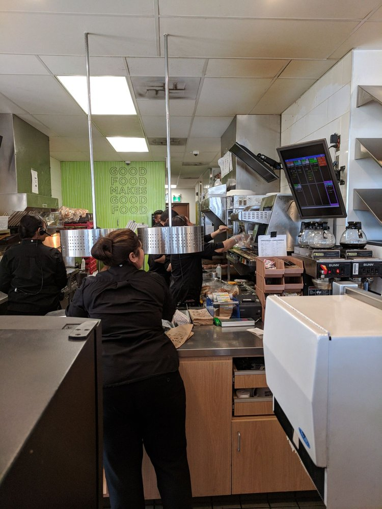 Busy Kitchen For Photo Of Aw Mississauga On Canada Busy Kitchen And Drivethru Area Yelp