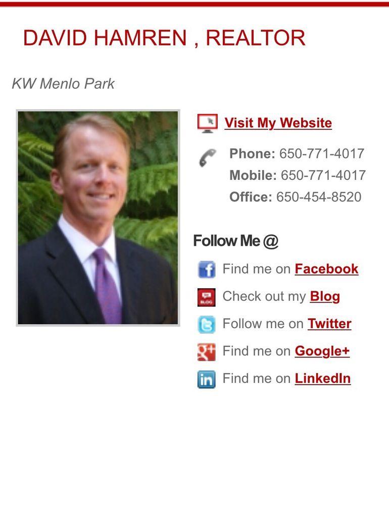 David Hamren - Peninsula Brokers Group Real Estate: 325 Sharon Park Rd, Menlo Park, CA