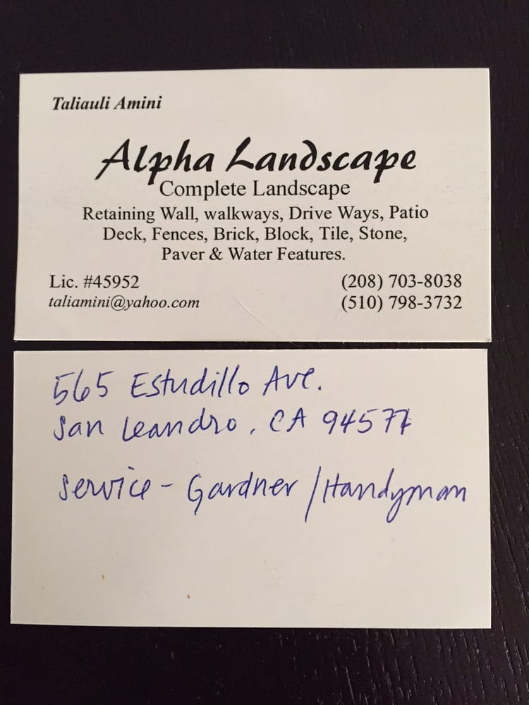 san leandro business license Business card. Handwritten address was copied from the San Leandro ...