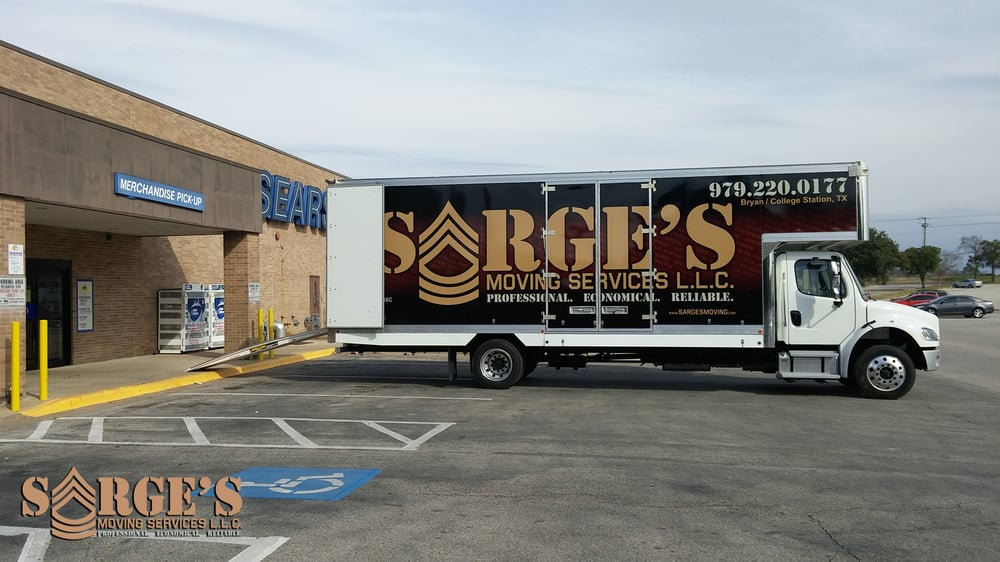 Sarge's Moving Services: 2130 Harvey Mitchell Pkwy, College Station, TX