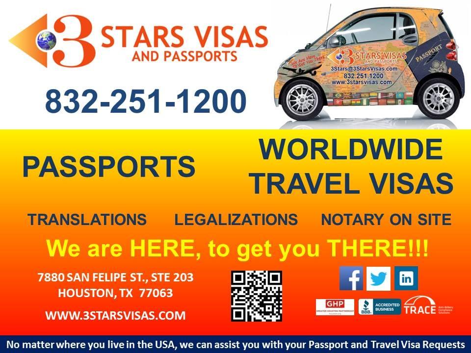 3 Stars Visas and Passports