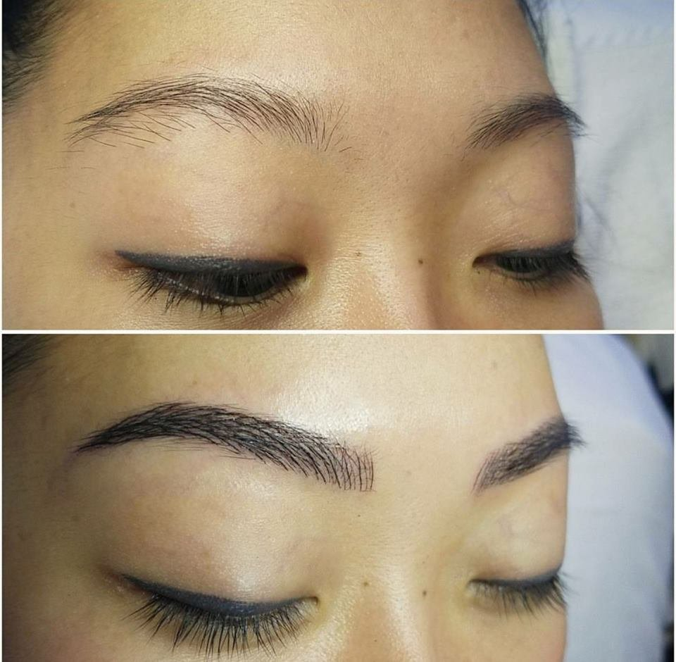 Microblading: Semi Permanent Eyebrow Tattoo with natural ...