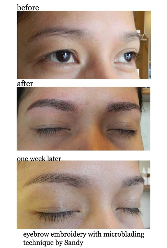 Eyebrow Embroidery With Microblading Technique Yelp