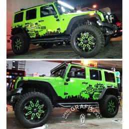 Jeep Wrangler Moab Full Paint Wrap Two Tone Green Apple