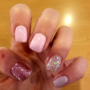 Photo Of Art Nails Carol Stream Il United States Pastel Pink And