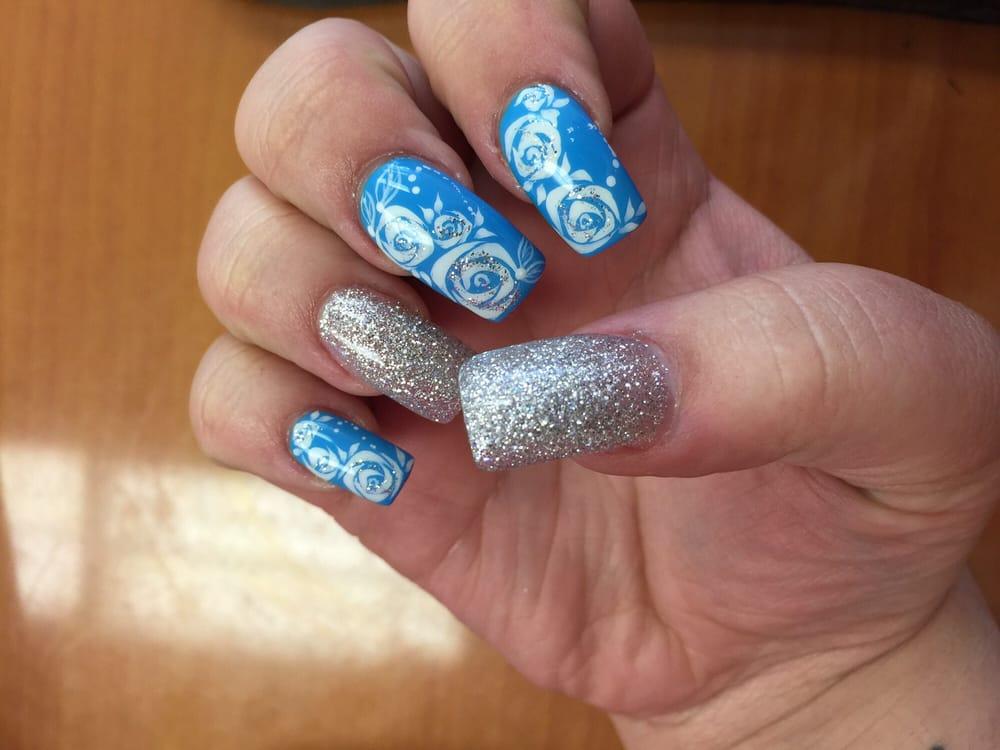 Baby blue rose.. - Yelp